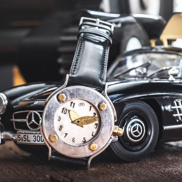 Armbanduhr aus Silber Herren - Tortuga Argent - Atelier Horloges